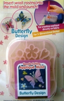 Clover needle felting applique butterfly design