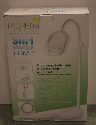 Purle lite 3 in 1 magnifying lamp