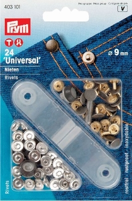 24 Universal nieten/rivets 9 mm