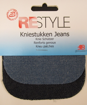 Kniestukken jeans 2colors