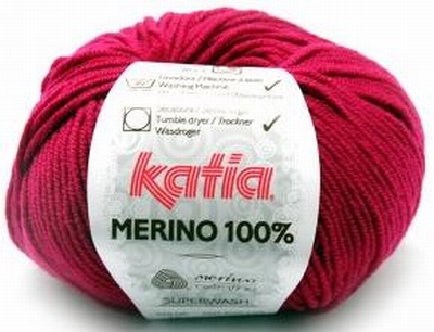 Merino '' superwash '' behandeld; mag dus in de wasmachine